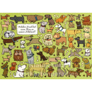 Wimmelbild Postkarten | Hunde Halsband