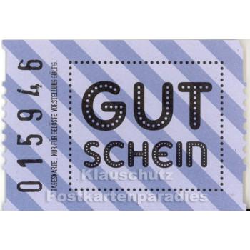 Postkarte Gutschein wie Kinokarte