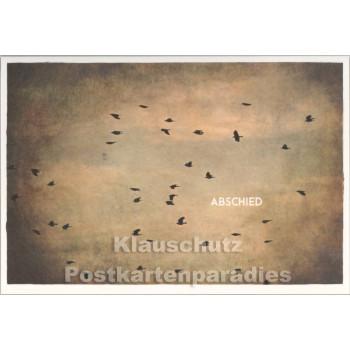 Klappkarte Trauerkarte Abschied von Skowronski und Koch