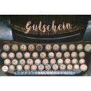 Doppelkarte Gutschein Schreibmaschine von SkoKo