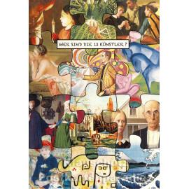 Wer sind die 12 Künstler? Postkarte I
