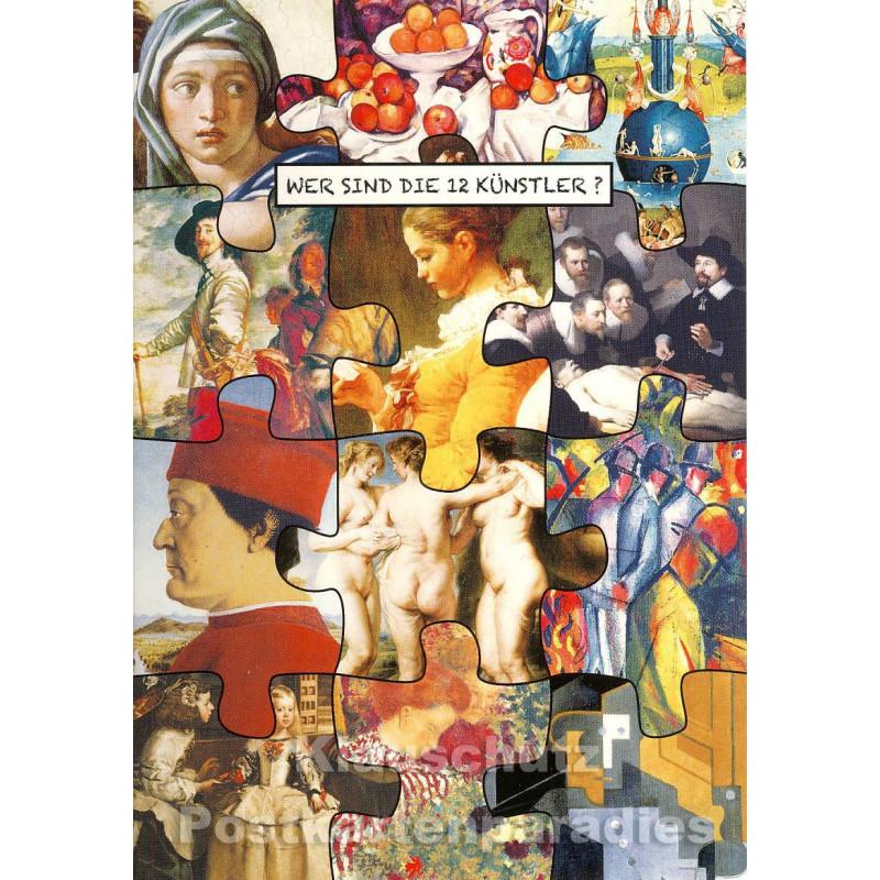 Wer sind die 12 Künstler? Postkarte II