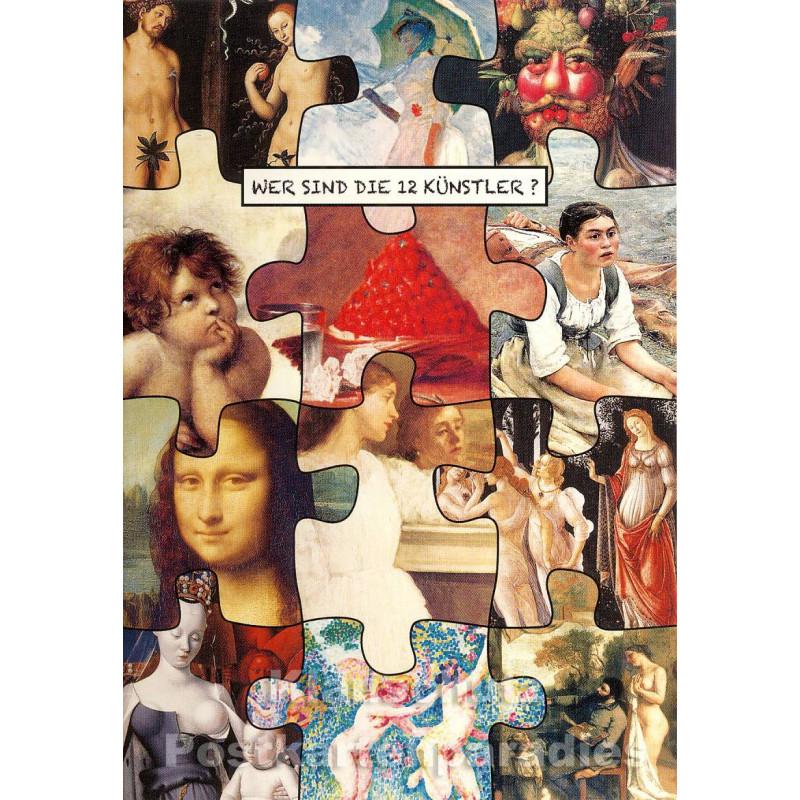 Wer sind die 12 Künstler? Postkarte III