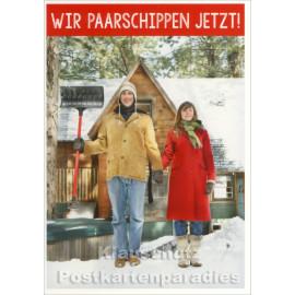 Lustige Weihnachtskarte von SkoKo - Wir paarschippen jetzt!