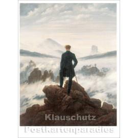 Caspar David Friedrich - Nebelmeer | Kunstkarte
