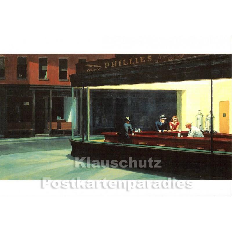 Edward Hopper - Nighthawks | Taurus Kunstkarte Postkarte