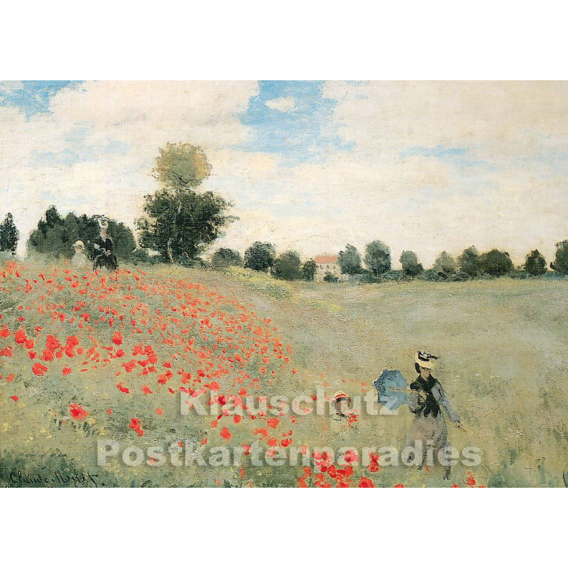 Claude Monet - Mohnblumen | Kunstkarte