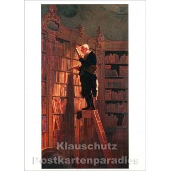Carl Spitzweg - Der Bücherwurm | Kunstkarte