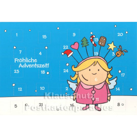 Fröhliche Adventszeit - Adventskalender Doppelkarte