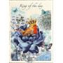 Retro Glitterkarte - King of the Day