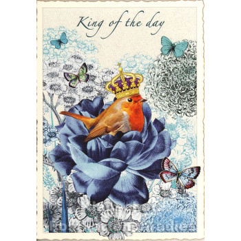 Retro Glitterkarte - King of the Day