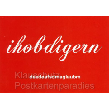 I hoab di gern - Cityproducts Postkarten Bayern