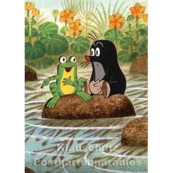 Der Maulwurf und der Frosch Postkarte