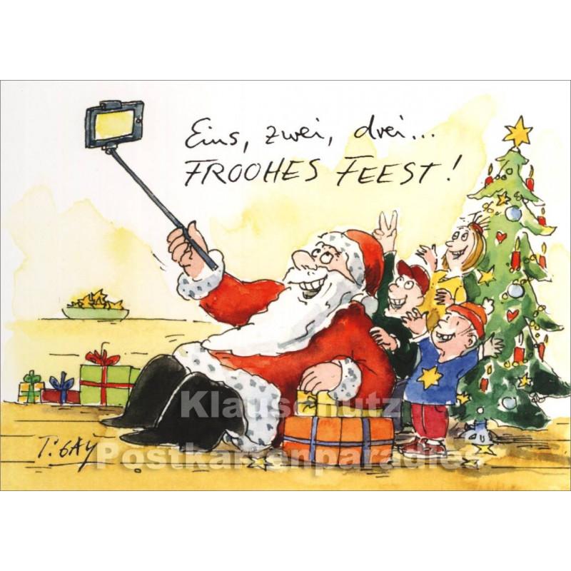 Lustiger Selfie Weihnachtsmann Gaymann Weihnachtskarte