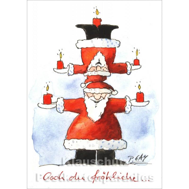 Oh du fröhliche ... Peter Gaymann Weihnachten mit zwei Weihnachtsmännern