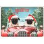 Weihnachtskarte Eisbär