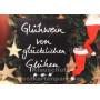 Glühwein von glücklichen Glühen   Lustige Weihnachtspostkarte