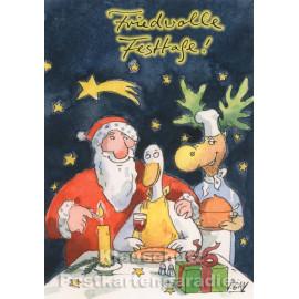 Friedvolle Festtage ... Gaymann Weihnachtskarte