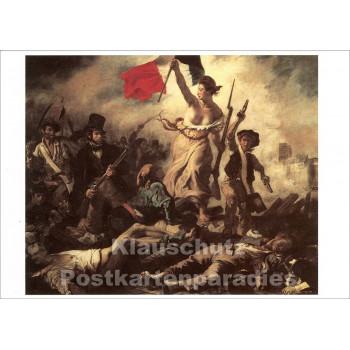 Postkarte | Eugène Delacroix - Barrikaden | Kunstkarte