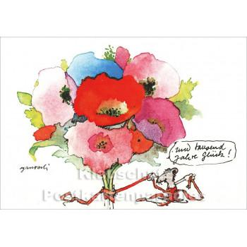Janosch Postkarte Riesenglückwunsch