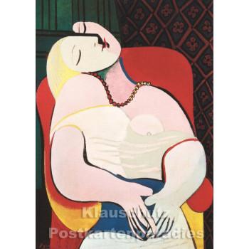 Pablo Picasso - Der Traum | Kunst Postkarte