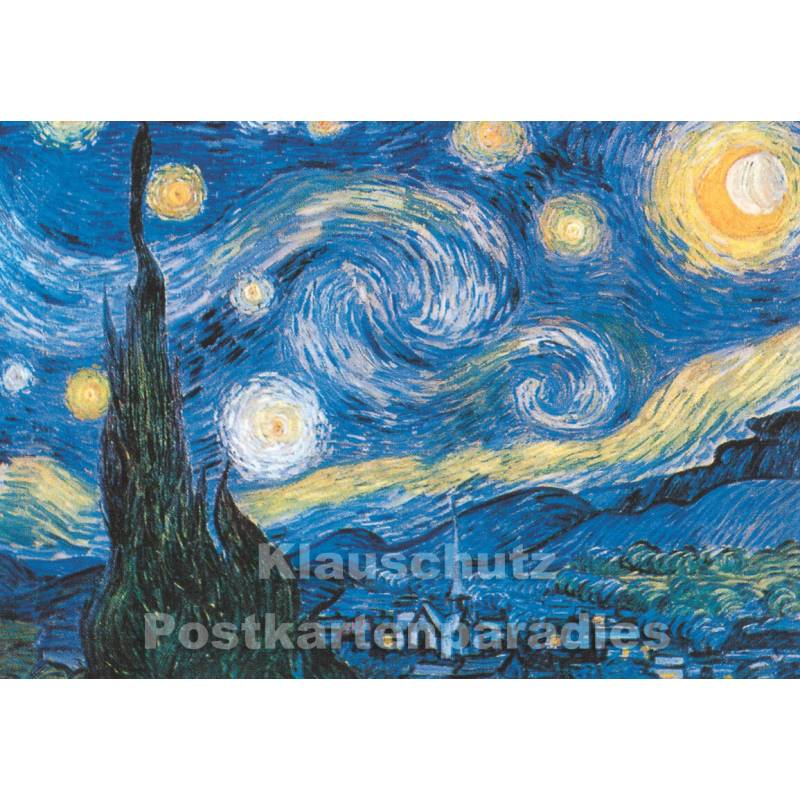 kunstkarte vincent van gogh sternennacht. Black Bedroom Furniture Sets. Home Design Ideas