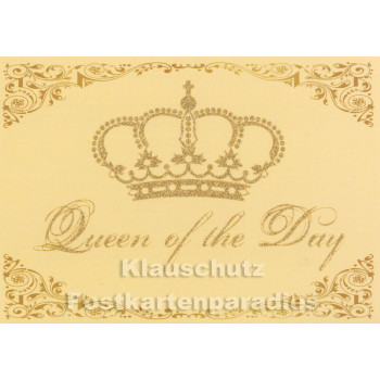 Queen of the Day - Glitter Postkarte