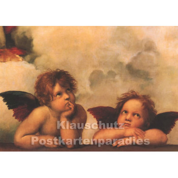 Kunst Doppelkarte | Sixtinische Kapelle von Raffael