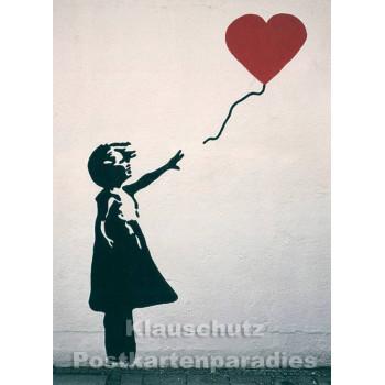 Foto Postkarte | Rotes Herz Graffiti