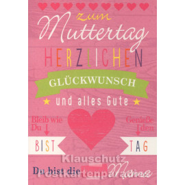 Doppelkarte Muttertag | Zum Muttertag