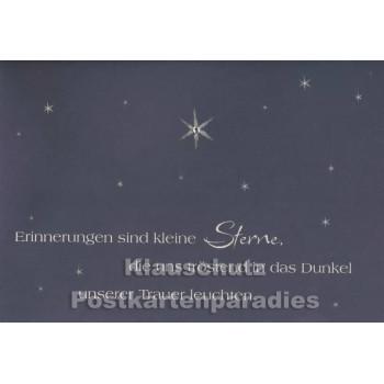 Doppelkarte Trauer | Erinnerungen sind kleine Sterne