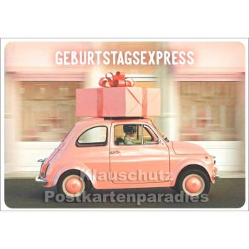 Geburtstagsexpress Postkarte
