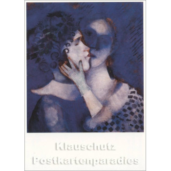 Marc Chagall Kunstkarte | Liebespaar in Blau
