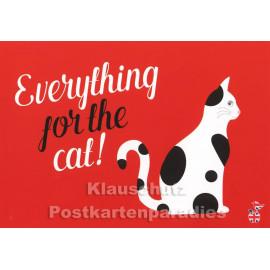 Everything for the Cat | Sprüche Postkarte