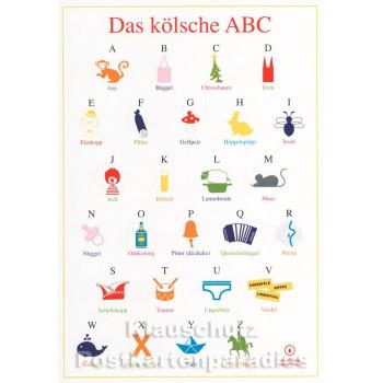 Das kölsche ABC - Kölsch Postkarte