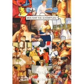Wer sind die 12 Künstler? Postkarte IV