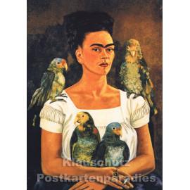 Frida Kahlo Kunstkarte | Selbstportrait
