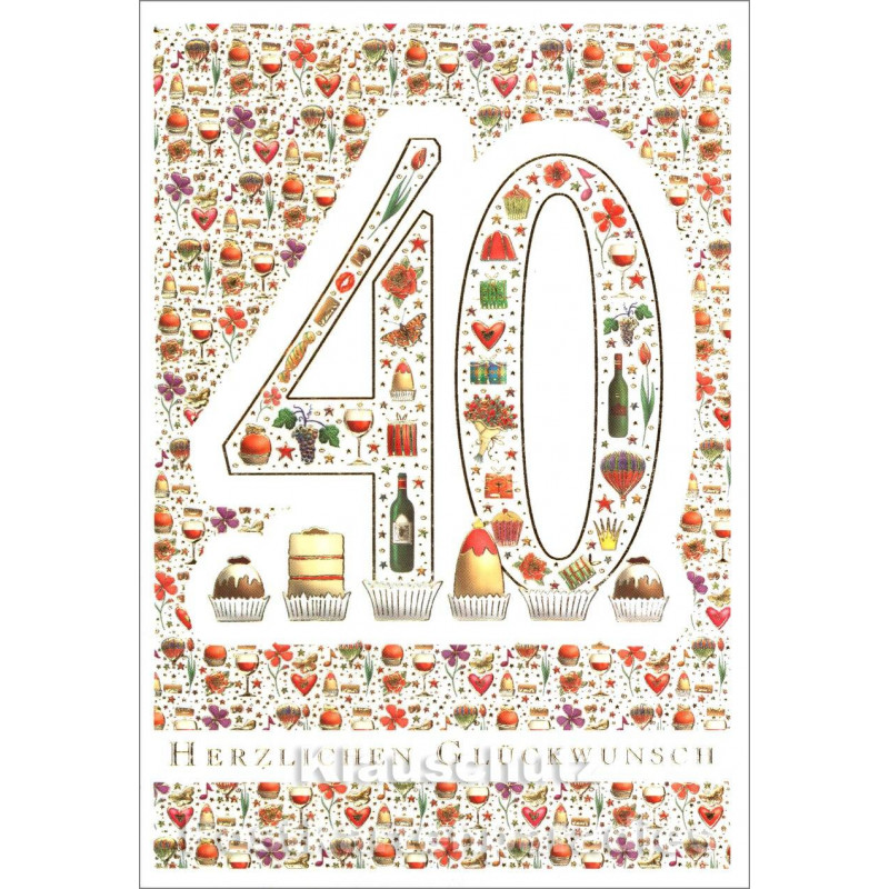 Doppelkarte runder Geburtstag | 40
