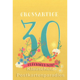 Doppelkarte runder Geburtstag | 30