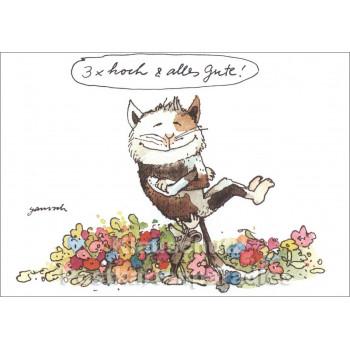 Janosch Geburtstagskarte | 3x hoch