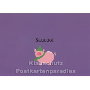 Saucool | Grafik Postkarte