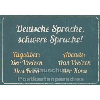 Deutsche Sprache - Postkarte