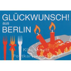 Postkarte - Glückwunsch aus Berlin
