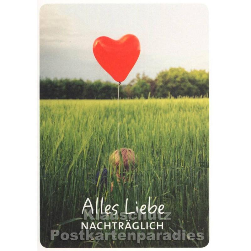 Alles Liebe nachträglich - Geburtstag Postkarte