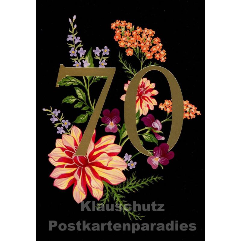 Doppelkarte Runder Geburtstag - 70