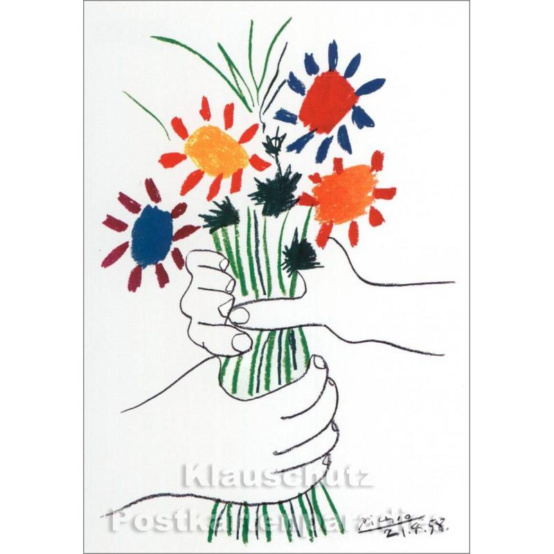 Pablo Picasso Kunstkarte | Der Blumenstrauß