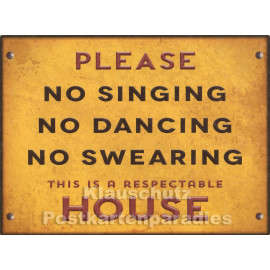 PosterCard - No Singing | 24 x 18 cm