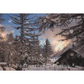 Adventskalender Postkarten - Alpen im Winter