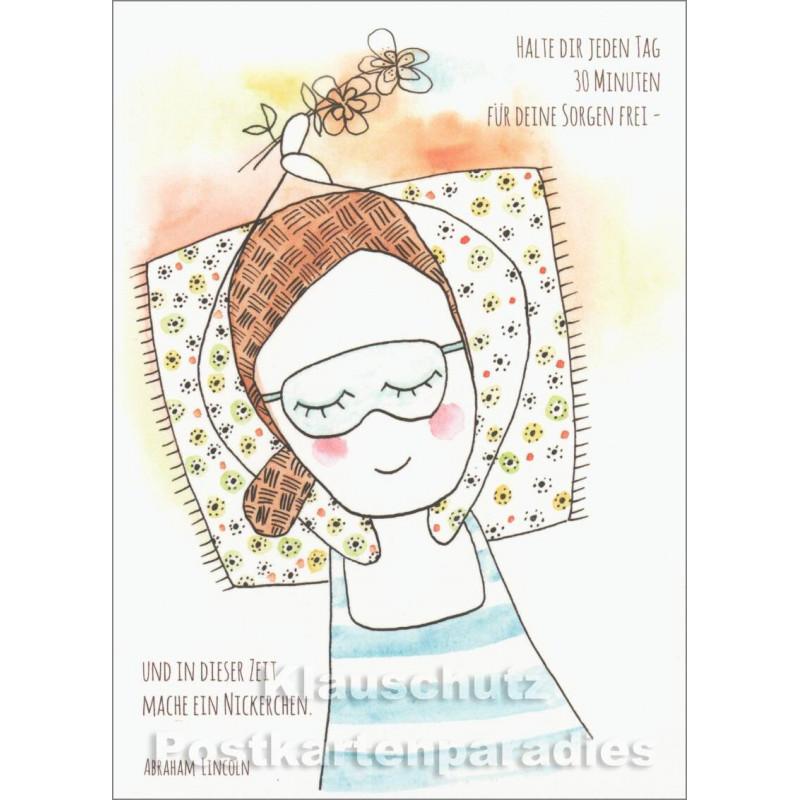 30 Minuten Sorgen | Postkarte