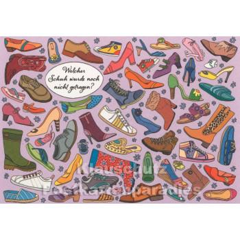 Wimmelbild Postkarte - Schuhe